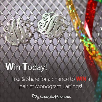 Enter to win a pair of free monogram earrings!!