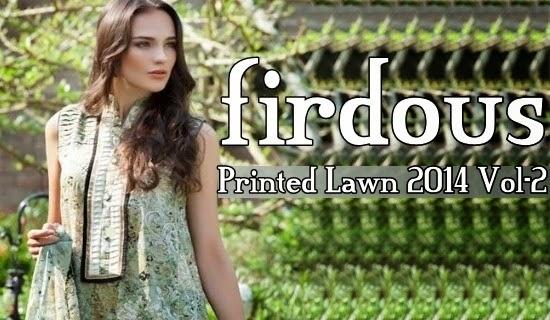 Firdous Printed Lawn 2014