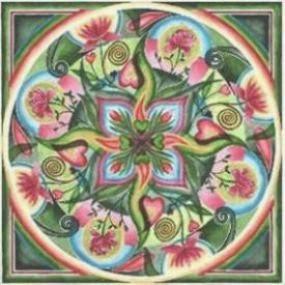 Kreatív meditáció - selyemfestés