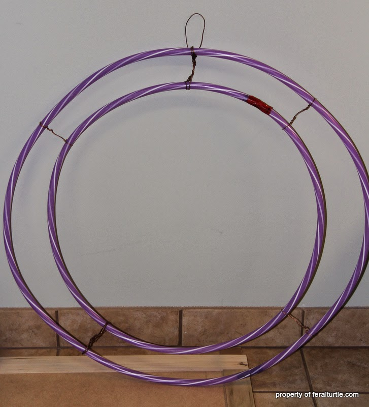 The Feral Turtle Giant Hula Hoop Wreath