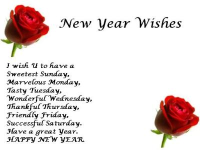 New Years Sayings Wishes