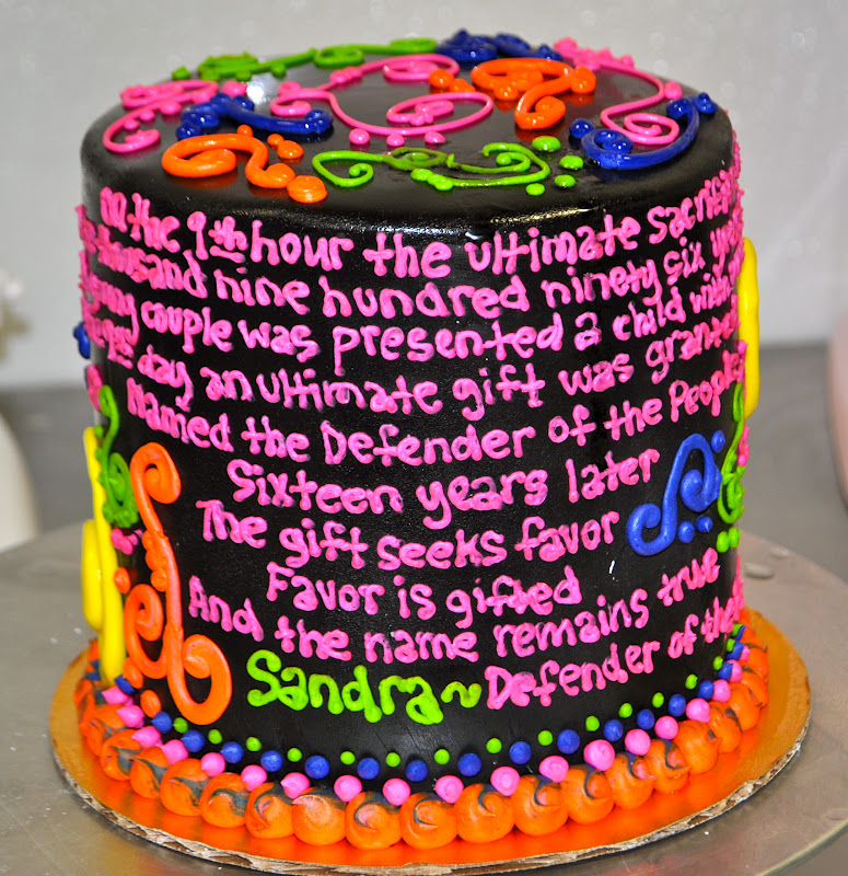 Leahs Sweet Treats tie dye Poetry and Blacklight cake