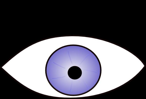 Desenho colorido Órgãos do sentido olho