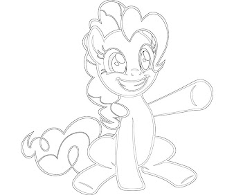 #13 Pinkie Pie Coloring Page