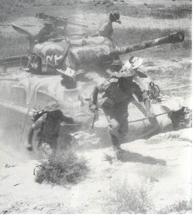 Pakistan Army Tank In Action in 1965 War Photo
