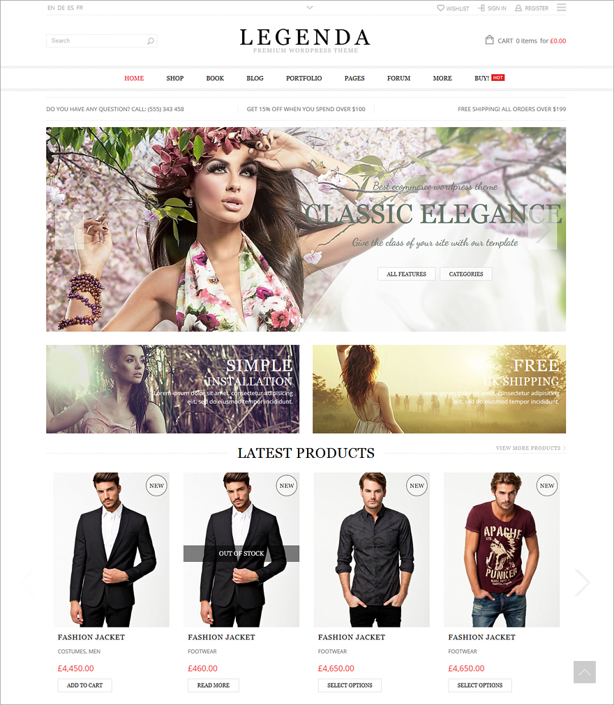 Legenda Multi-Purpose WordPress Theme
