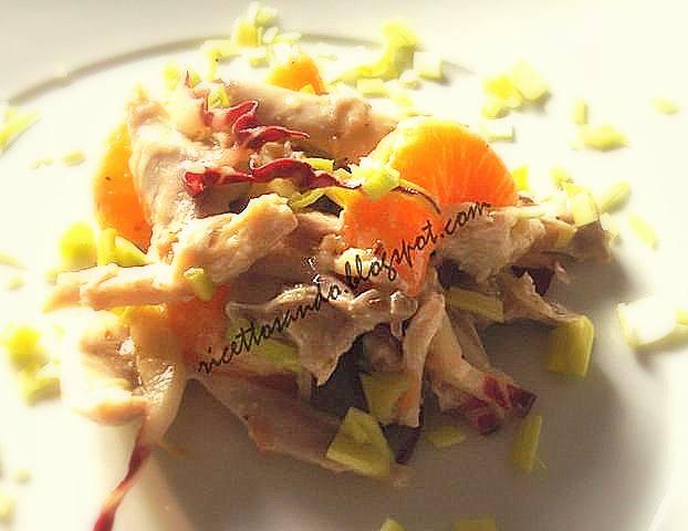 Insalata di pollo agrumi e noci ricetta  light