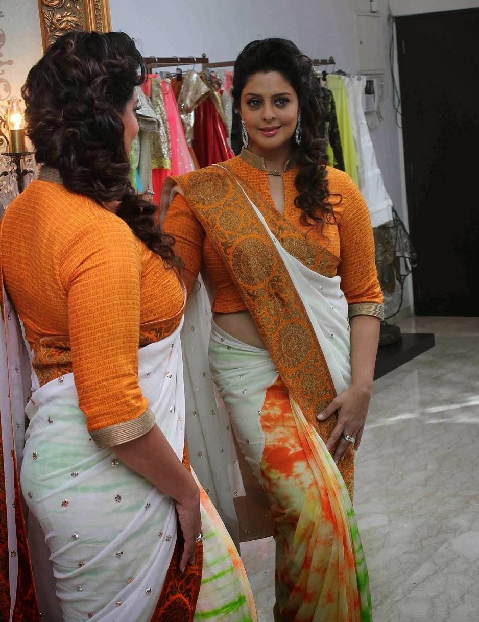 nagma hot saree stills