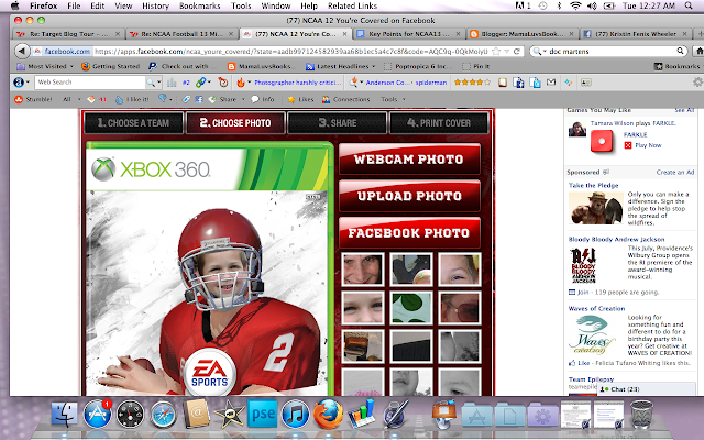 NCAA 12 You're Covered FB App