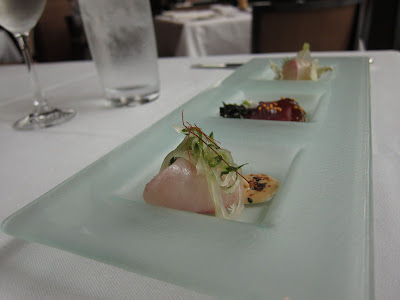 Sashimi trio at Ame in SF