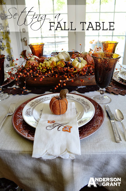 Setting an Elegant Fall Table | www.andersonandgrant.com