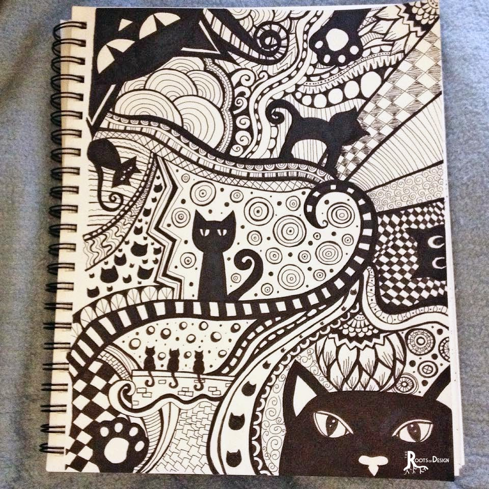 The roots of design doodle prints for coloring - Doodle dessin ...