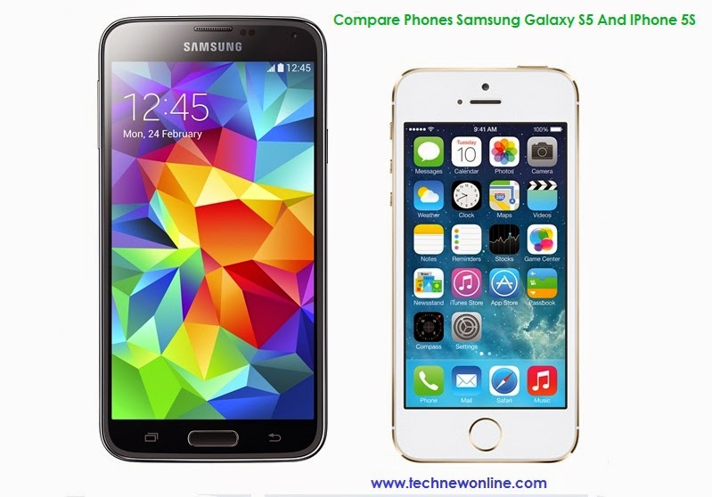 Compare Phones Samsung Galaxy S5 And IPhone 5S