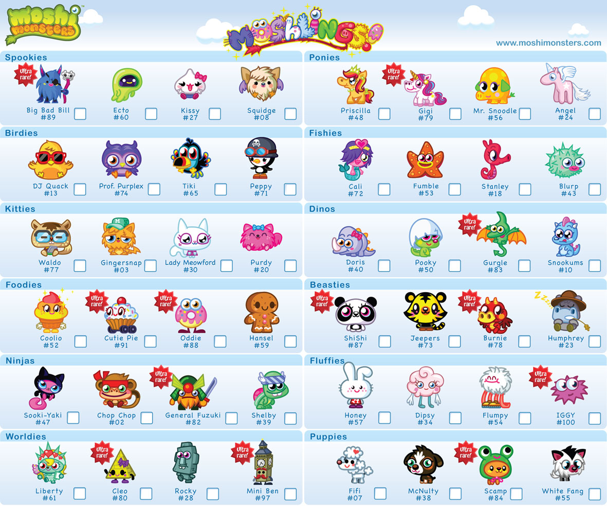Moshi Monsters Moshlings Pictures