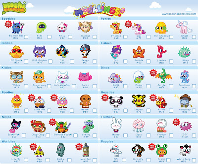 Moshi Monsters Moshlings