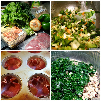 Black Eyed Pea and Kale Salad in Salumi Cups | Farm Fresh Feasts