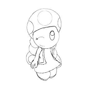 #10 Toadette Coloring Page