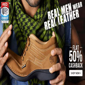 PayTM : Buy Red Chief Footwear at Flat 55% Cashback from Rs.995 : buytoearn