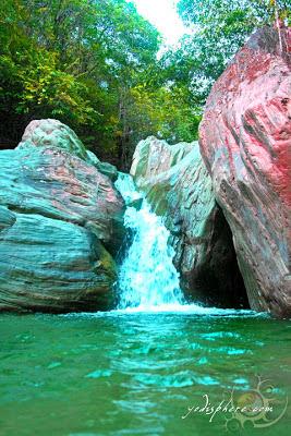 Mini waterfalls at the Calawagan River in Paluan Occidental Mindoro