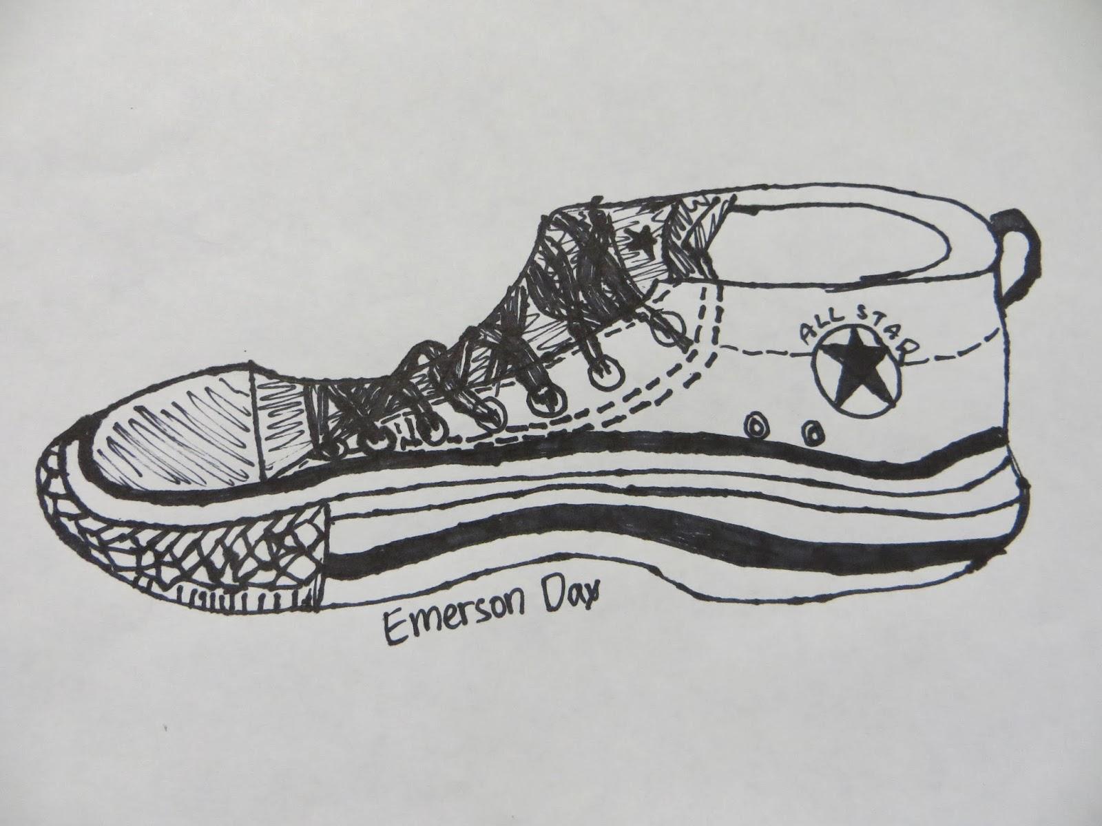Blind Contour Line Drawing Definition : Shana s art room contour shoe drawings