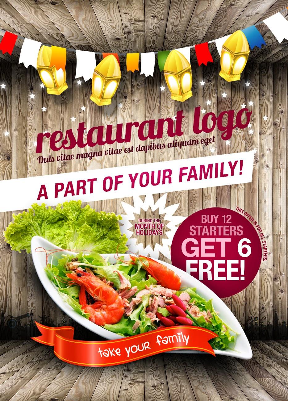 Plantilla para portada de menú para restaurante en vector, psd y ...