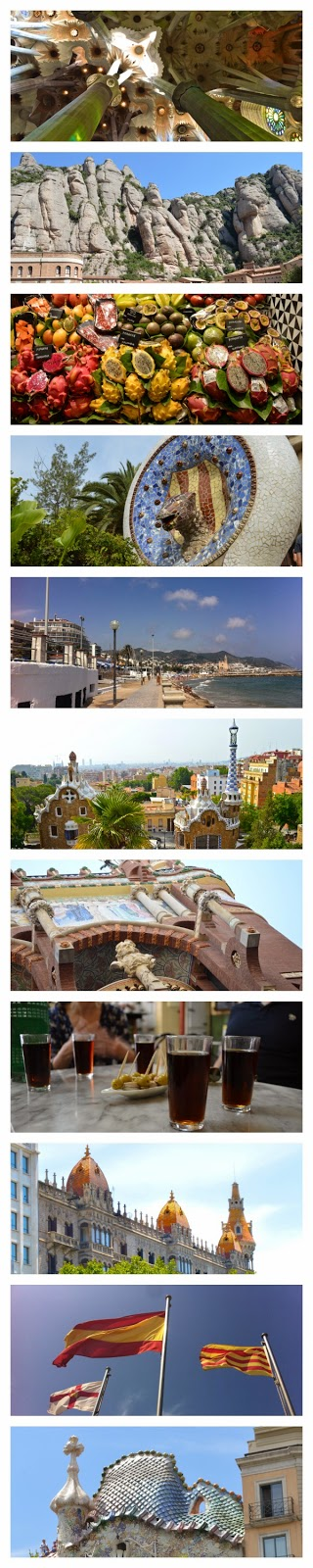 Photo collage of Barcelona