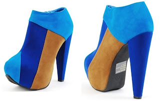 Color Block Ankle Boots