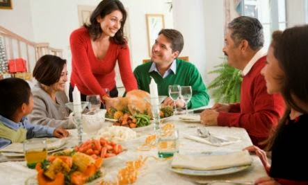Creating Healing Traditions - happy family dinner feast gathering christmas