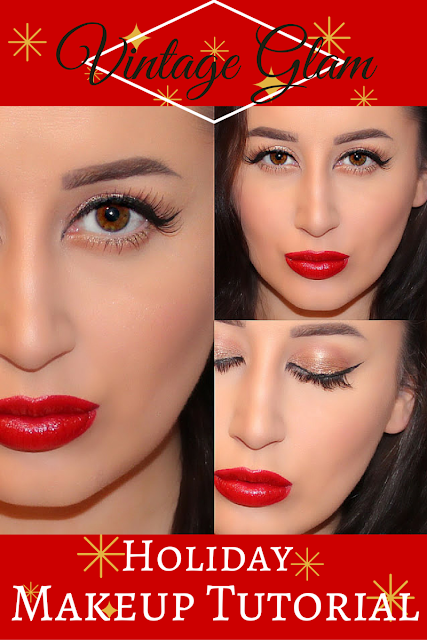 Vintage Glam Holiday Makeup Tutorial