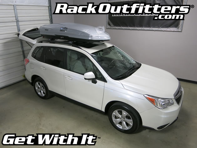 Subaru Forester With Thule Sonic Xl on 2014 subaru forester roof rack basket