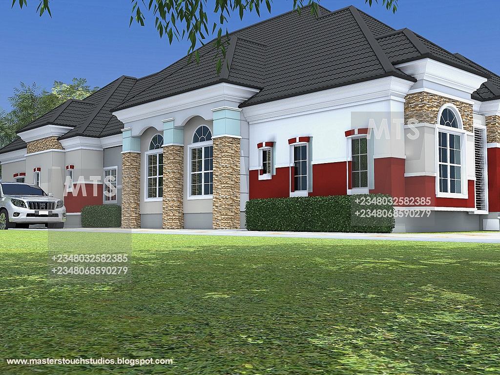 Mr chukwudi 5 bedroom bungalow modern and contemporary for 5 bedroom bungalow house plans