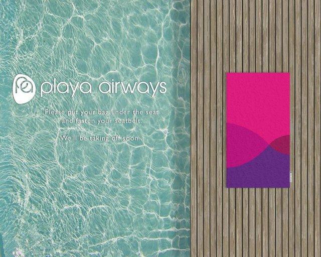 Concours PLAYA AIRWAYS: draps de plage graphiques et élégants à gagner