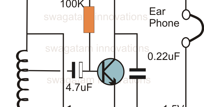 single transistor radio receiver circuit