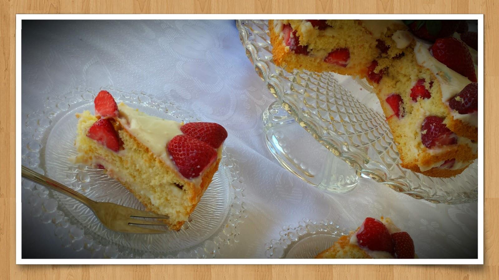 Erdbeer-Vanille Torte