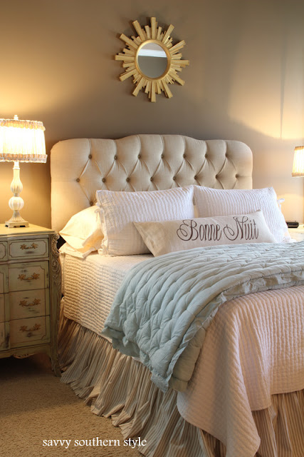 Savvy southern style the master bedroom Master bedrooms with upholstered beds