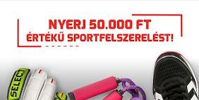 Nyerj 50.000,- Ft értékű sportfelszerelést!