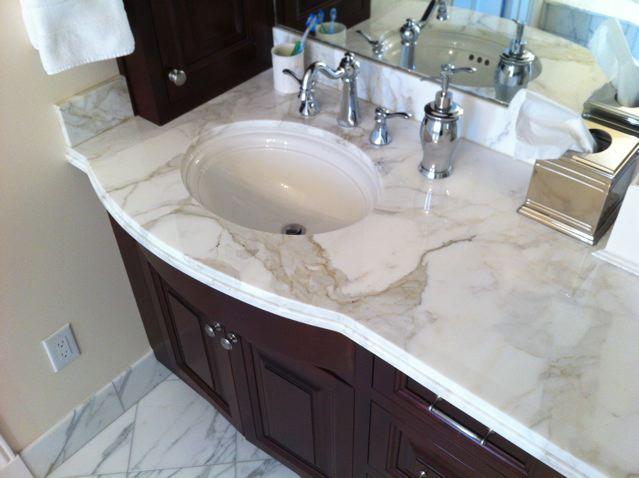 The Granite Gurus Calacatta Gold Marble Bath By Mgs By Design
