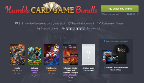 Pack de juegos de cartas, en esta ocasión por 1 céntimo de dólar solo obtendremos el código para desbloquear la versión Premium del juego Star Realms.