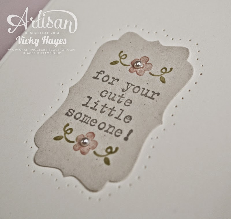Use the free Simply Wonderful Sale-a-bration stamp set from Stampin' Up to make a sweet baby card