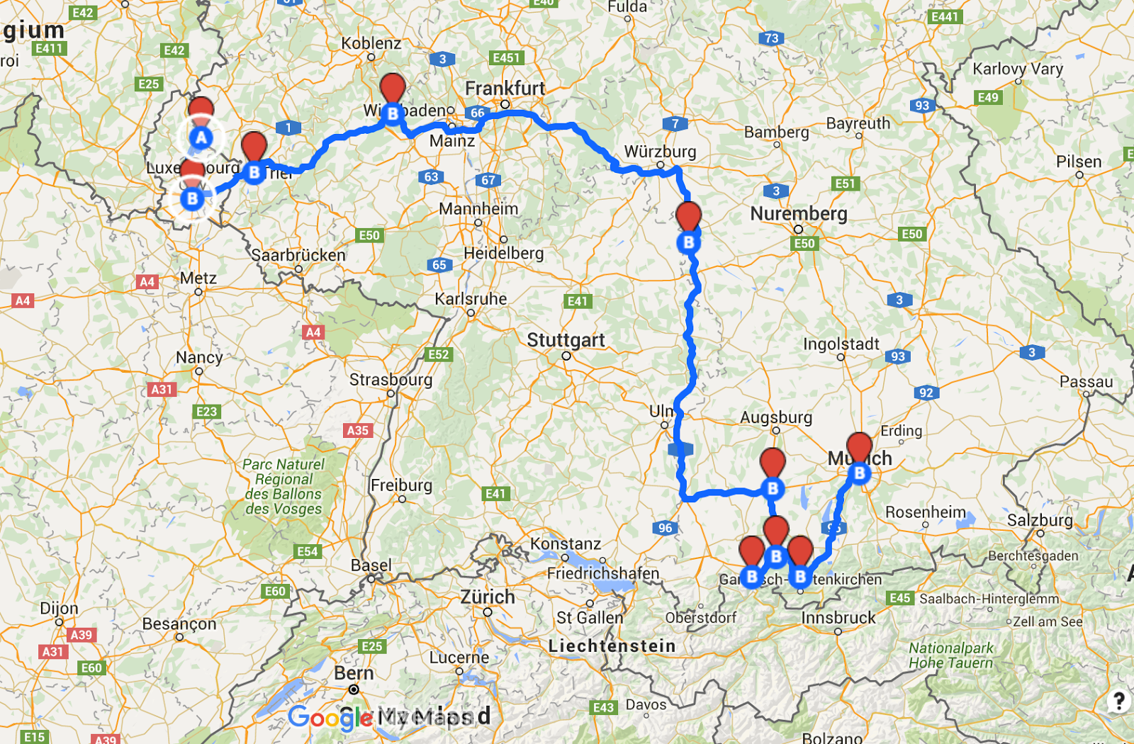 The Best Of Bavaria And Beyond Luxembourg And Germany Road Trip - Germany road map 2015