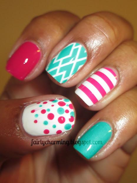 charming jamberry nail