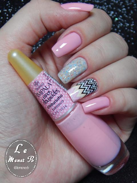 nail art em tom pastel
