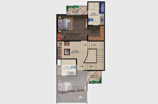 Czar Villas  :: Floor Plans,Type B:-First Floor2 Bedroom, 2 Toilet, Stairs, 2 Balconies, Expandable Area