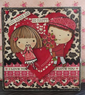 Feliz San Valentin: Mimi & Miles Card