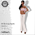 KAITHLEE'S - WHITE WIDELEG PANTS