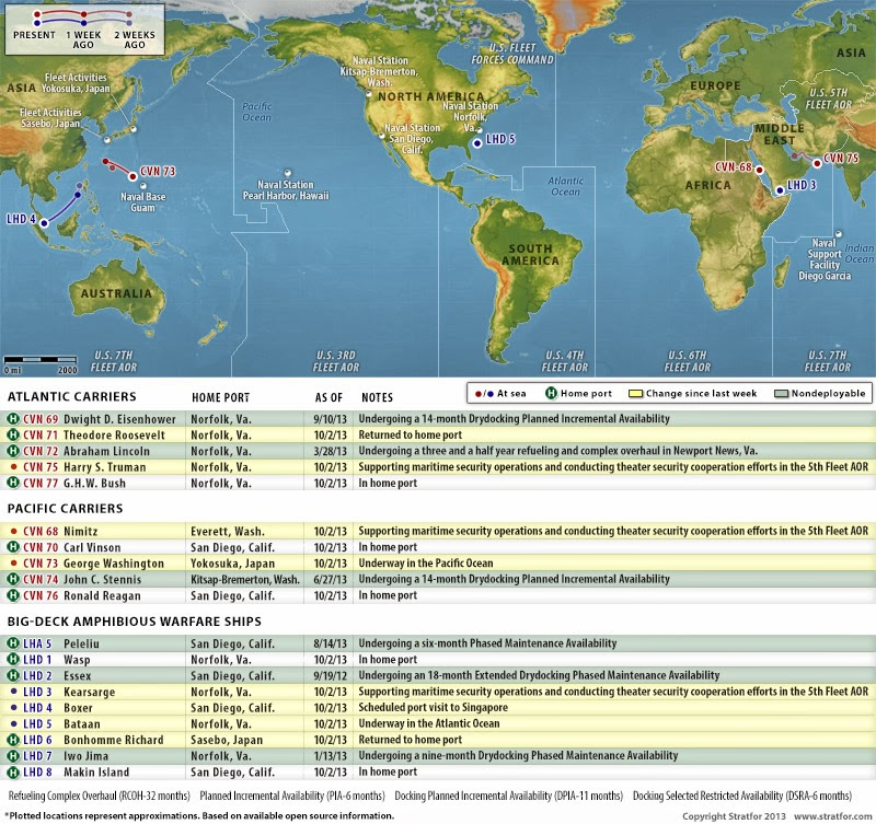 Us Naval Update Map Oct 3 2013rhisdeiblogspot: Us Navy Ship Locations Current At Gmaili.net