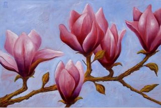 Cuadros modernos pinturas y dibujos flores pintadas - Pinturas acrilicas modernas ...