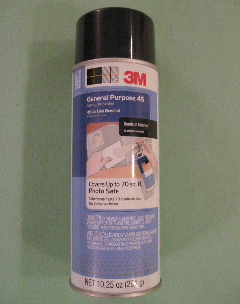 Spray glue used for becnh cushion.
