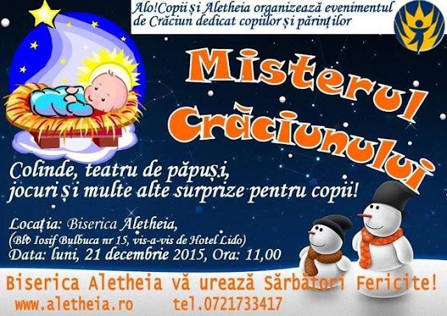 Concert de colinde Misterele Craciunului - 21 decembrie 2015