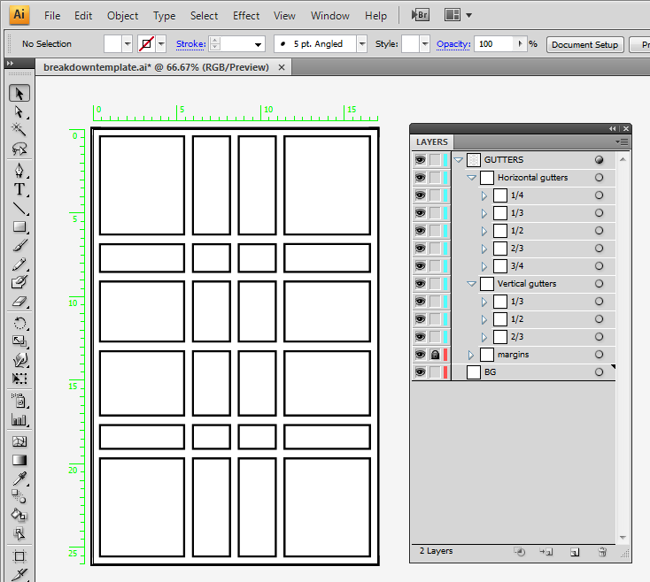 how to make comic panels in illustrator